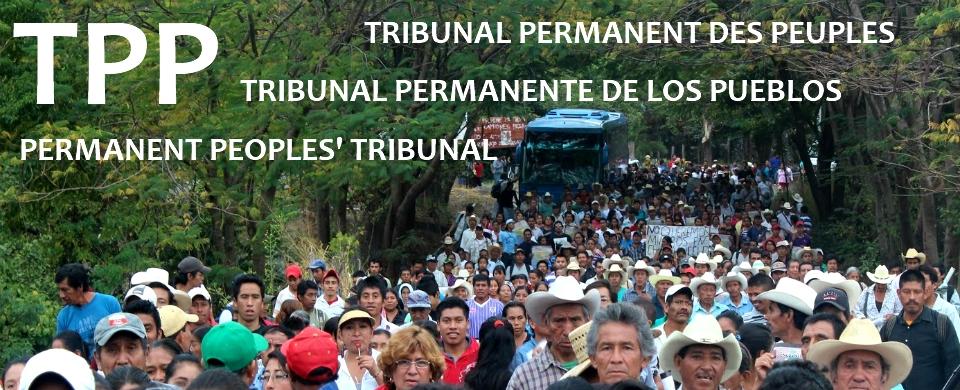 Organisation et soutien au Tribunal Permanent des Peuples
