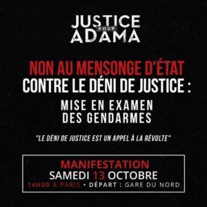 Marche au nom d'Adama Traoré @ Gare du Nord