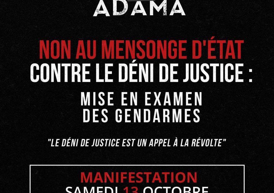 Marche au nom d'Adama Traoré