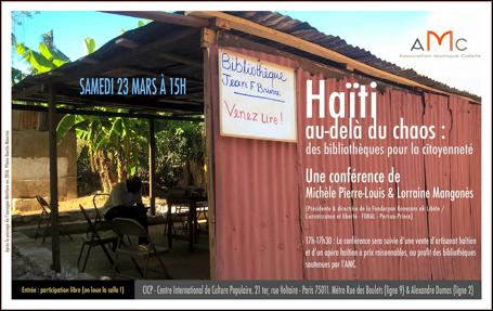 Haïti au-delà du chaos: des bibliothèques pour la citoyenneté.