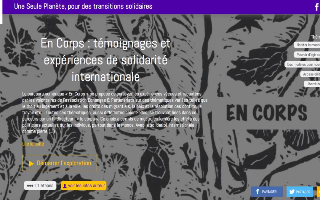 En Corps : témoignages et expériences de solidarité internationale